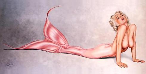 Olivia De Berardinis' Sexy Pin-Up Mermaids
