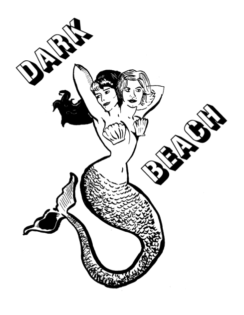 dark beach mermaid sticker